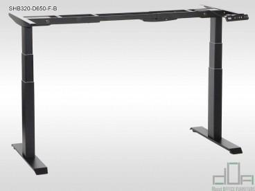 Cadru metalic birou reglabil pe înălțime electric, 2 motoare SHB320-D650-F/B