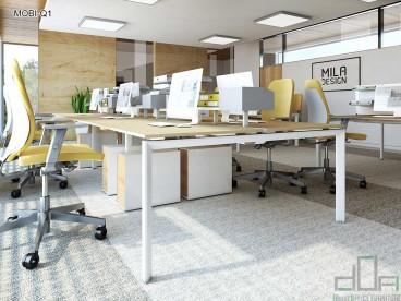 Birou operațional MOBI-Q1 picioare metalice 1200x600mm