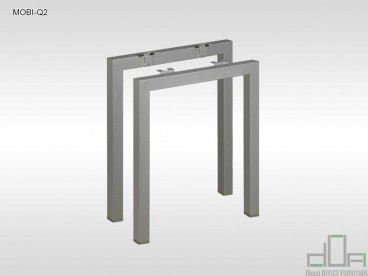 Birou operational MOBI-Q2 picioare metalice 1200x600mm