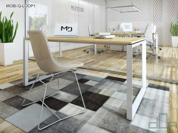 Birou operațional MOBI-Q-LOOP1 picioare metalice 1200x600mm