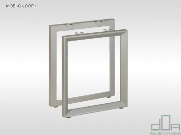 Birou operațional MOBI-Q-LOOP1 picioare metalice blat PAL 1200x600mm